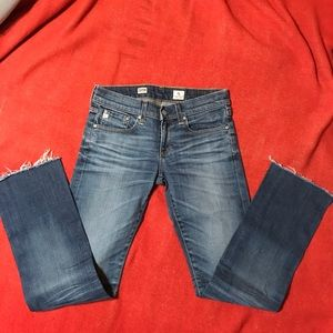 AG tomboy relaxed straight jeans